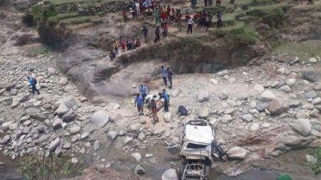 जीप दुर्घटनामा परि वडाध्यक्षसहित ४ जनाको मृत्यु, ७ घाइते