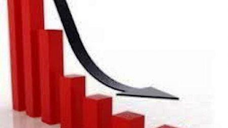 दोहोरो अंक नजिकले घट्यो शेयर बजार