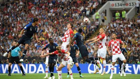 विश्वकप २०१८ फाइनलः फ्रान्सलार्इ सुरूवाति अग्रता