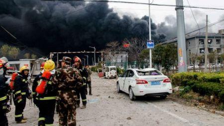 चीनमा केमिकल प्लान्टमा विस्फोटबाट मृत्यु हुनेको संख्या ४७ पुग्यो, ६४० घाइते