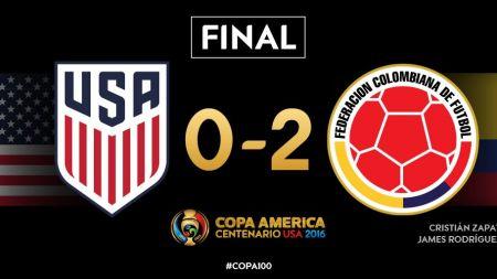 कोपा अमेरिका कप फुटबलमा कोलम्बियाले अमेरिकालाई हरायो