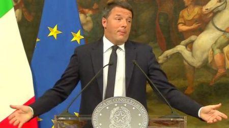 इटालीका प्रधानमन्त्रीद्वारा राजीनामा