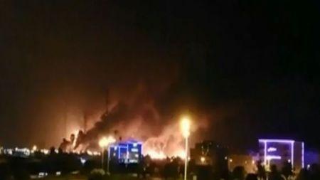 साउदीको सबैभन्दा ठूलो तेल कम्पनीमा ड्रोन आक्रमणपछि भीषण आगलागी