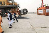 भारतीय प्रधानमन्त्री मोदीद्वारा साहिबगन्ज मल्टी मोडल ट्रमिनलको उद्घाटन