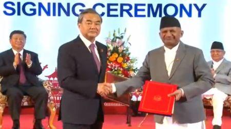 नेपाल–चीनबीच १७ बुँदे समझदारीपत्रमा हस्ताक्षर