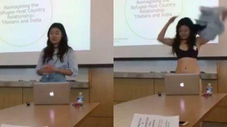 शिक्षकले छोटा लुगा भन्दै गाली गरेपछि विरोध स्वरुप नाङ्गिइन यी छात्रा(भिडियो सहित)