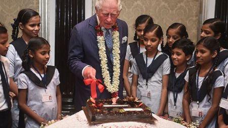 बेलायती राजकुमार चार्ल्सको जन्मोत्सव मुम्बइका विद्यार्थीसँग