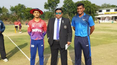 नेपालद्वारा भारतलाई २११ रनको लक्ष्य, कप्तान गौतमको उत्कृष्ट ब्याटिङ