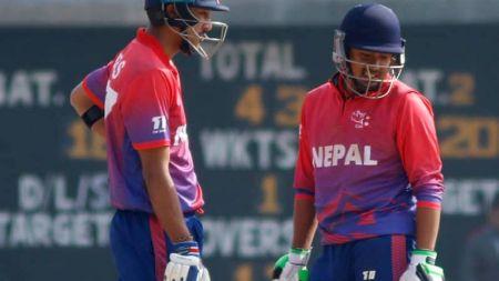 नेपालद्वारा ओमानलाई २५० रनको लक्ष्य, कप्तान मल्लको अर्धशतक