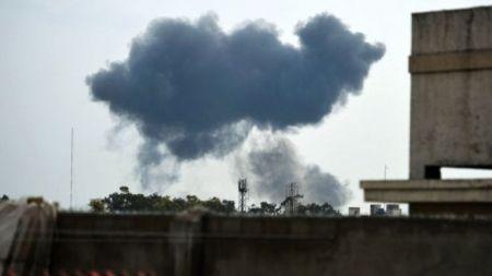 इस्लामावाद पार्क नजिकै लडाकू विमान दुर्घटनाग्रस्त