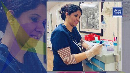 कमलालाई अमेरिकी नर्सले गरे सहयोग
