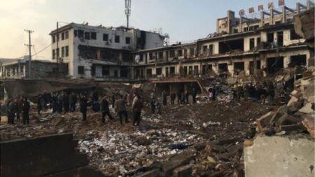 चीनमा शक्तिशाली विष्फोट १० को मृत्यु